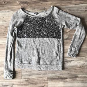 Express long sleeve sequin shirt